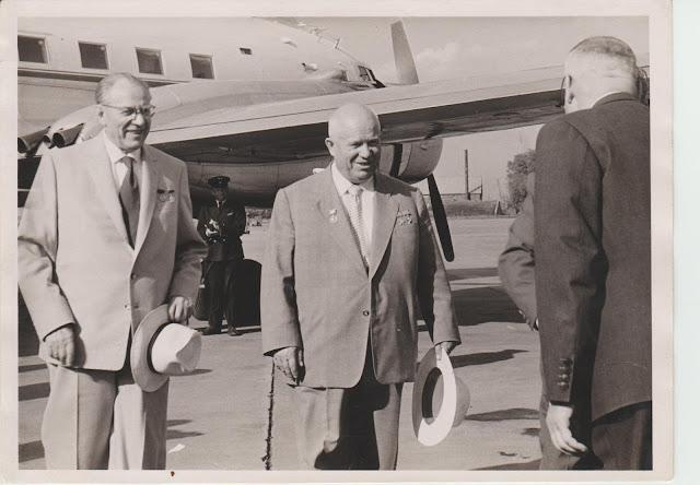 Визит Н.С. Хрущева в Ригу в 1959 году , аэропорт Спилве