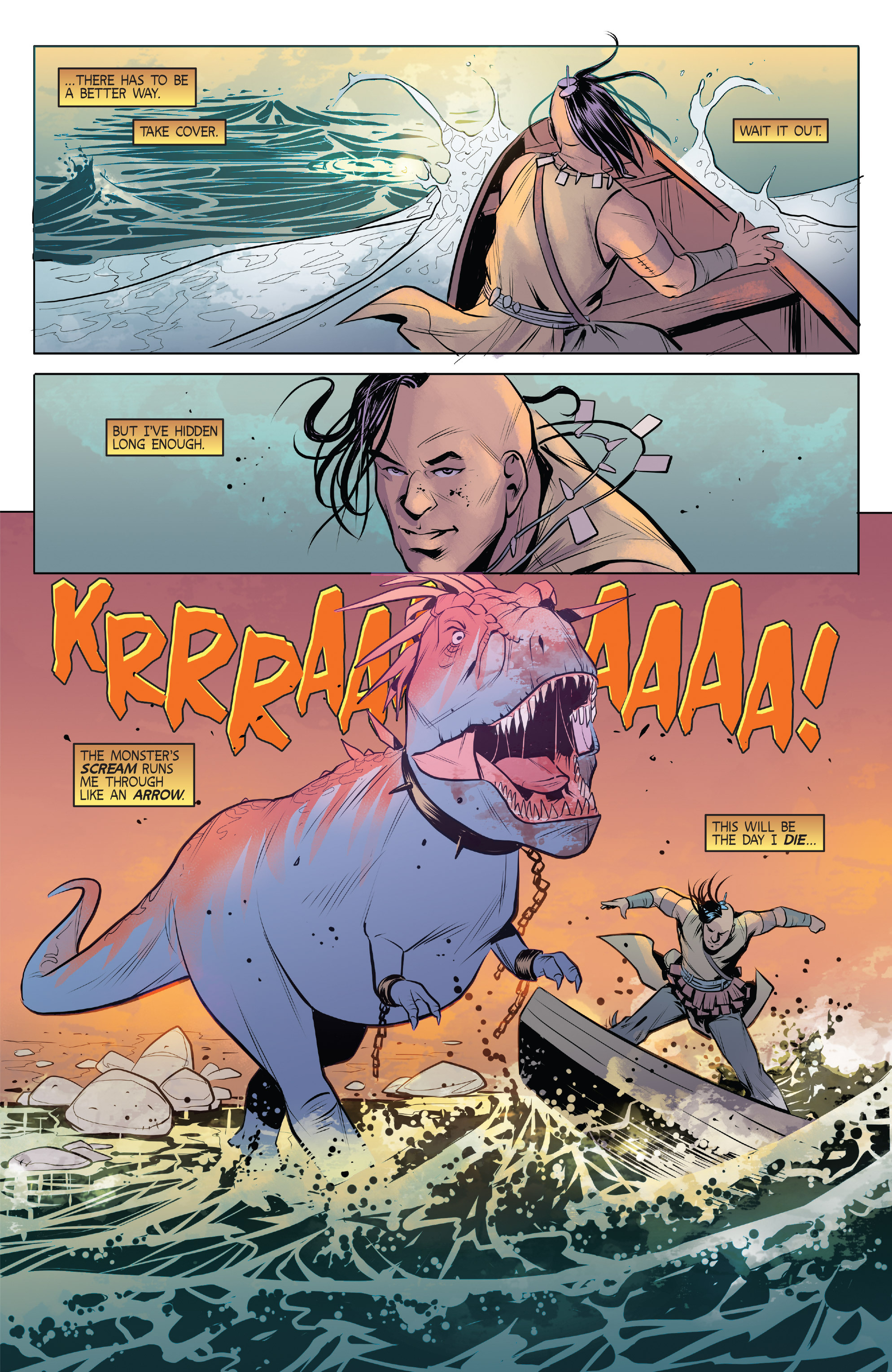 Read online Turok: Dinosaur Hunter (2014) comic -  Issue # _TPB 1 - 92