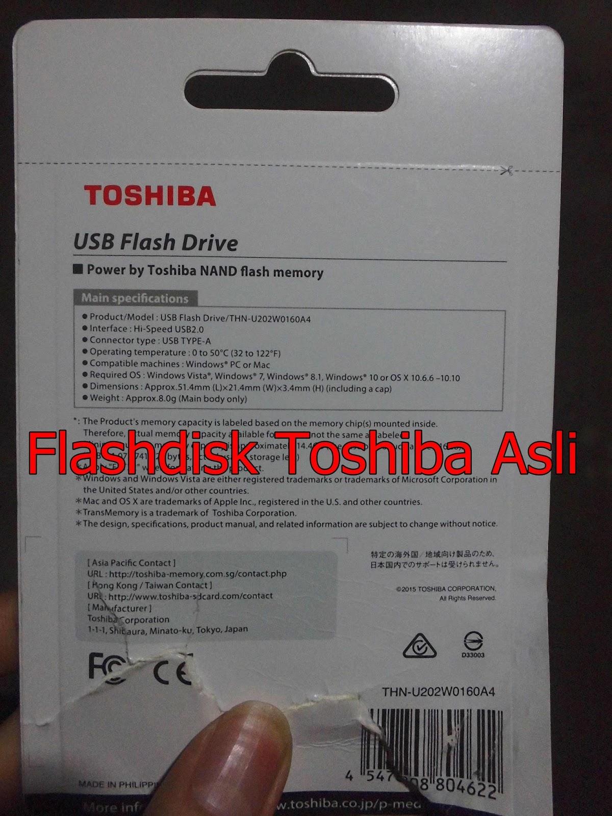 Tips Mudah Membedakan Flashdisk Toshiba Asli Dengan Yang Palsu Flash Disc 64 Gb Share On Facebook
