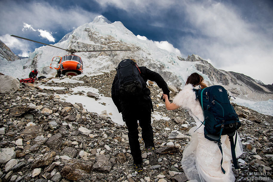 married on freeze temprature on everest