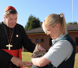 Cradinal Pell and a wallaby