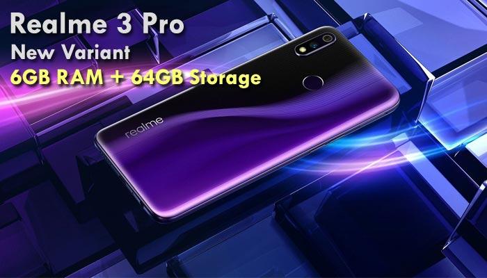 Model Baru RAM 6GB + Storage 64GB Realme 3 Pro Dijual Rp3,2 Juta