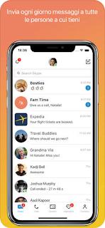 L'app Skype per iPhone si aggiorna alla vers 8.18
