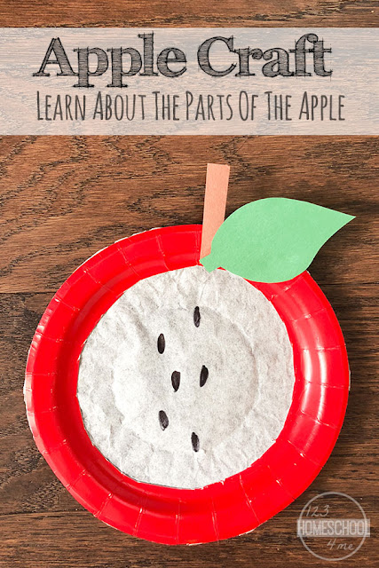 Paper Plate and Coffee Filter Apple Craft