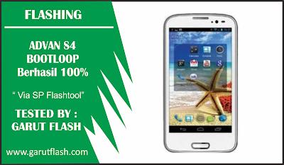 Cara Flash Advan S4 Bootloop Via SP Flashtool Berhasil 100%