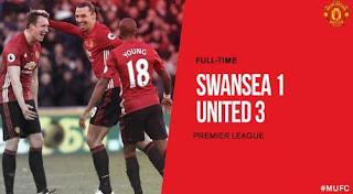 Swansea City vs Manchester United 1-3 Video Gol & Full Match Highlights