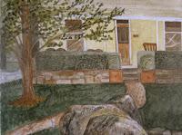 Tasma House Verandah Watercolor Painting by Carla Maxwell
