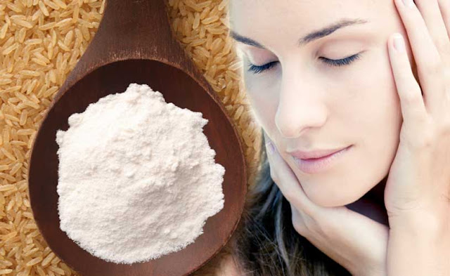 face powder with rice flour