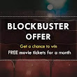 Win Online - Free Movie Tickets for 1 Month
