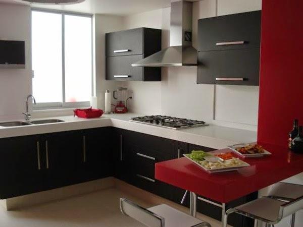 Decora hogar 10 cocinas peque as decoradas y pr cticas for Cocinetas para cocinas pequenas