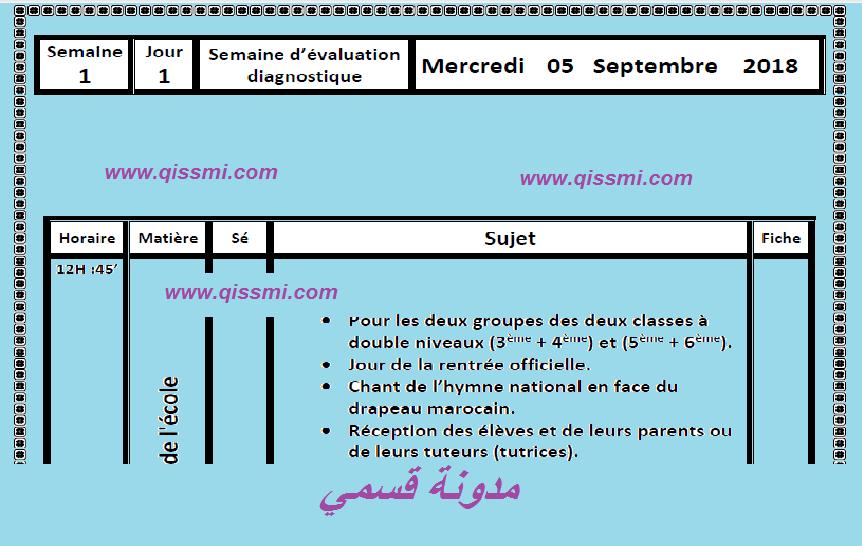 المذكرة اليومية للتقويم التشخيصي