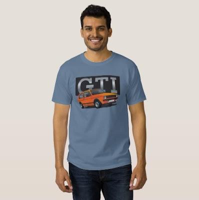 VW Golf GTI Mk1 printti t-paita t-shirt