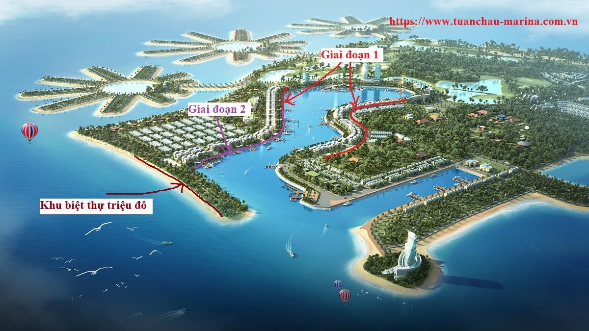 Các phân khu mở bán theo giai đoạn của Tuần Châu Marina