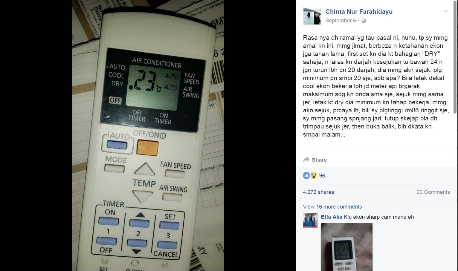Lepas Pasang Aircond Kat Homestay Lendu Tu Keluarlah K Cara Nak Jimat Penggunaan Elektrik Bila Guna Jadi Kita Cuba La Ye Tips Yang Di Kongsi
