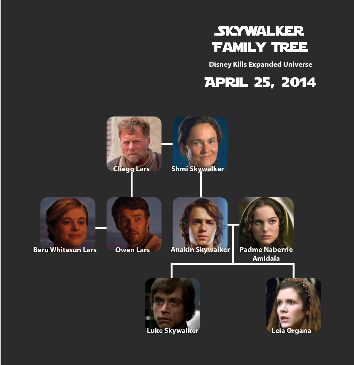 The Skywalker Family Over Time