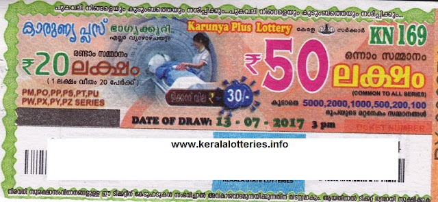 Kerala Lottery Today_Karunya Plus_KN-169