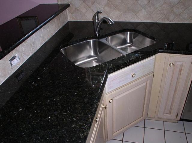 black galaxy granite quartz countertops