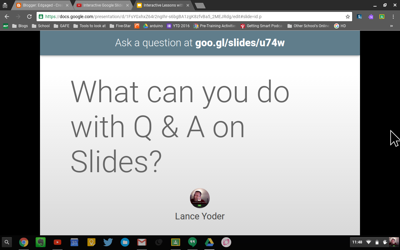edgaged interactive q a with google slides