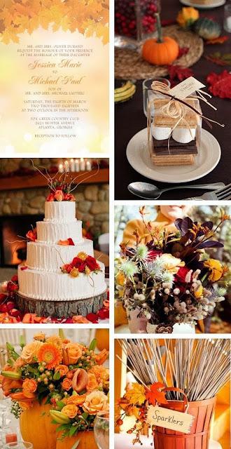 fall wedding decor board