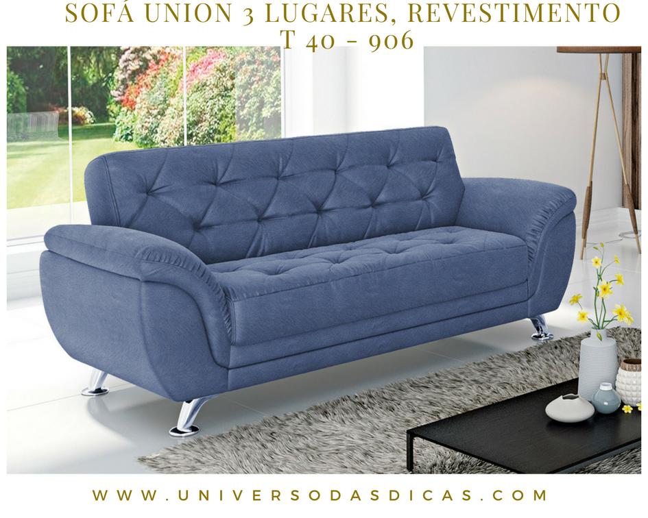 Sofá Union 3 lugares, Revestimento - T 40 - 906