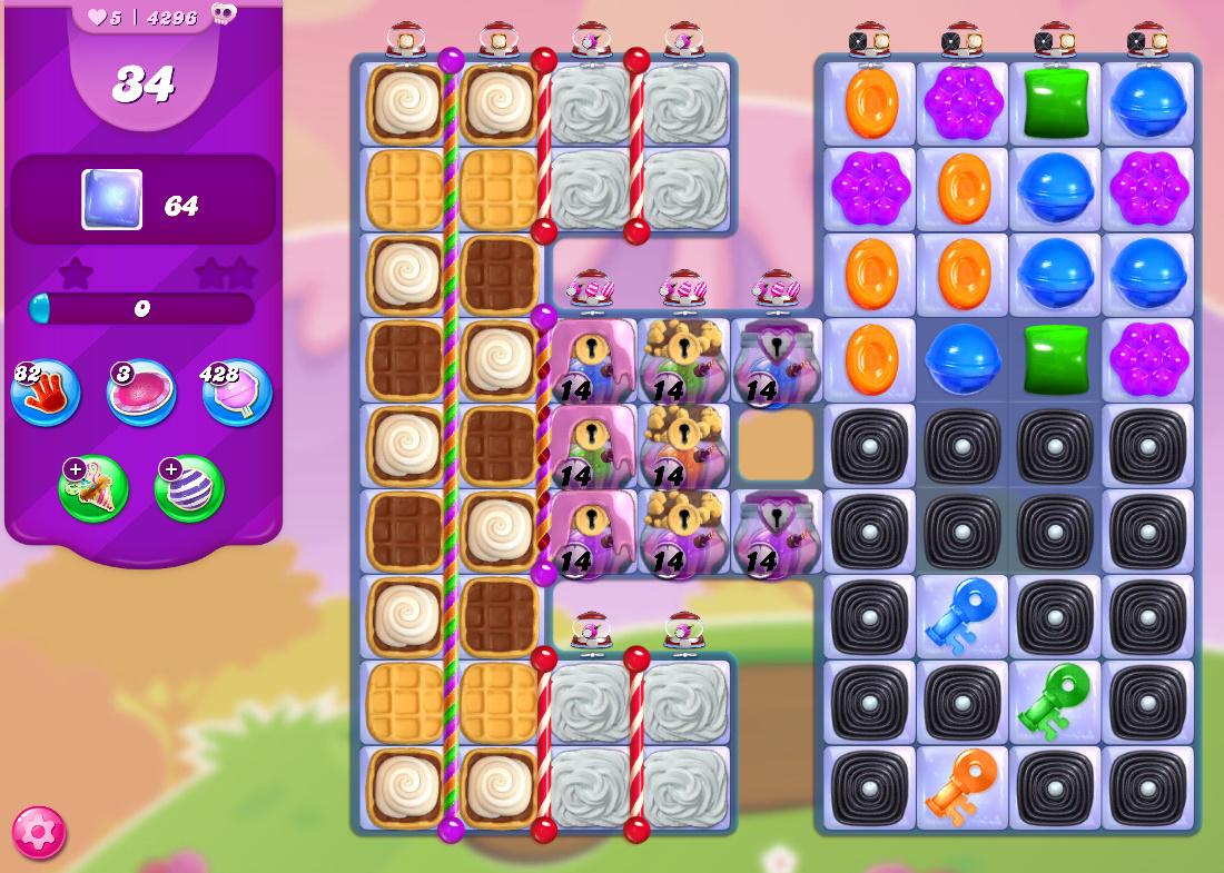 Candy Crush Saga level 4296