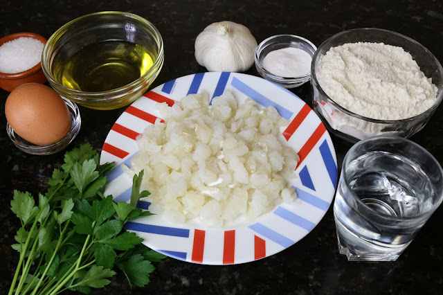 Ingredientes para tortillitas de bacalao