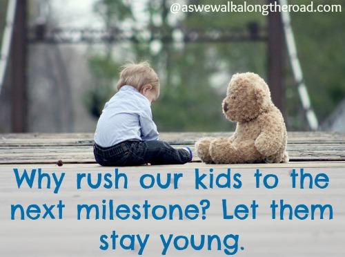 Letting our children enjoy childhood