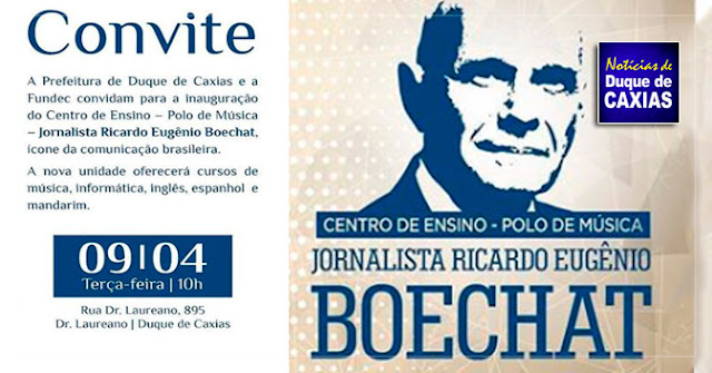 Jornalista Ricardo Boechat vai virar nome de escola em Duque de Caxias