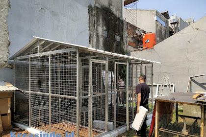 Kandang Besi untuk Ayam pesanan Bpk Eka di Komplek Mega Cinere Depok