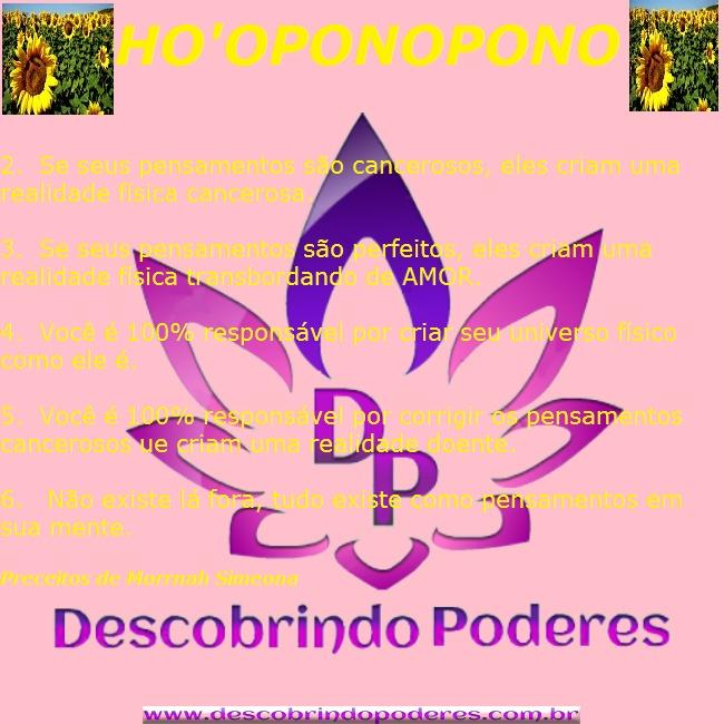 PRINCÍPIOS DO HO.OPONOPONO