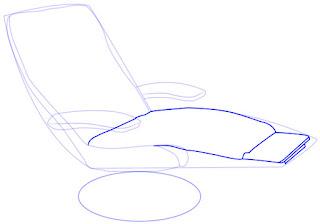 Teknik mudah menggambar Recliner (Sofa)
