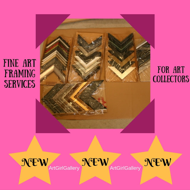 Fine art framing services  are now offered at ArtGirlGallery!