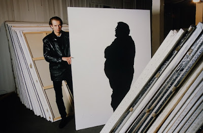 Klaus Guingand Studio :Shadow paintings - 1994