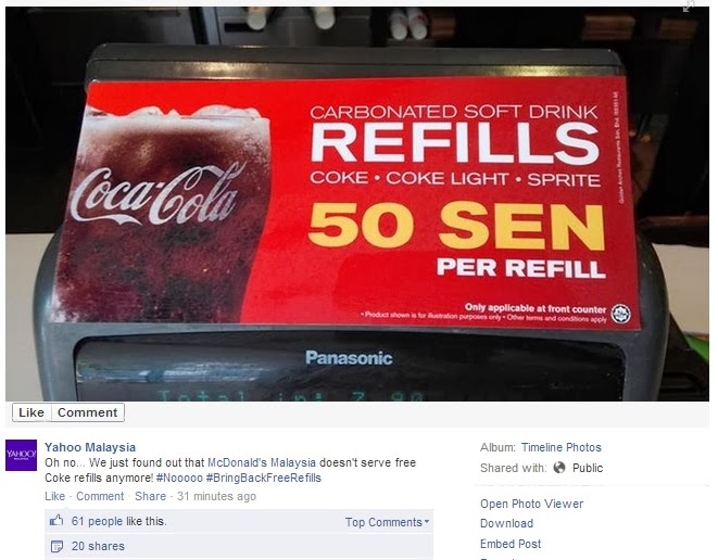 Mcdonald S Free Drinks Refills Are Now