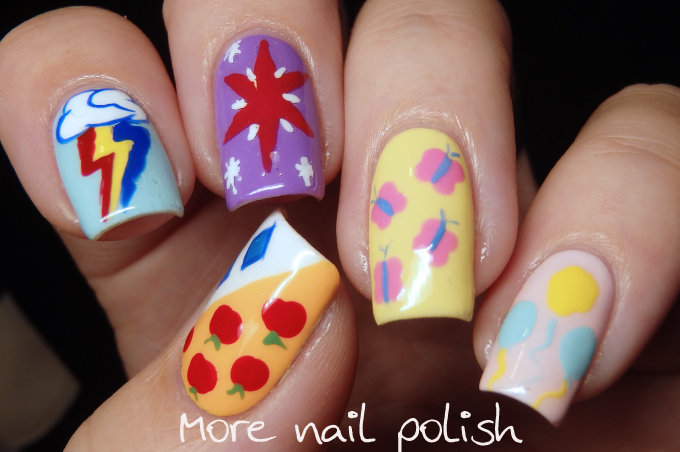 40 Great Nail Art Ideas - Kids TV - My Little Pony ~ More Nail Polish