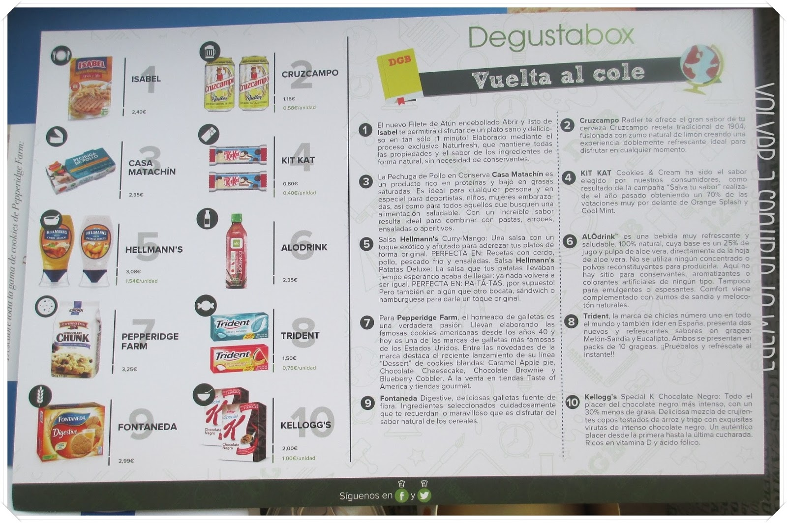 degustabox 'Vuelta al Cole' - Agosto 2014