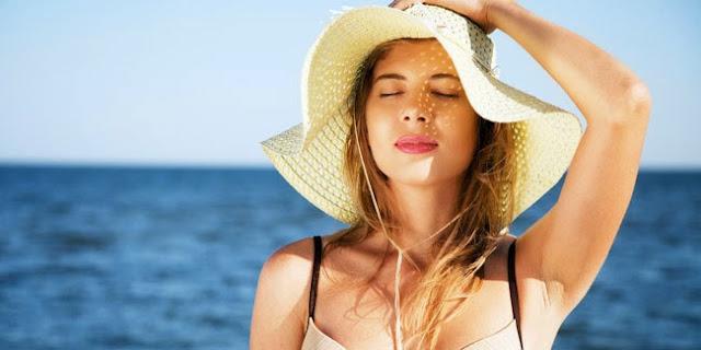 Image result for melindungi rambut dari sinar matahari