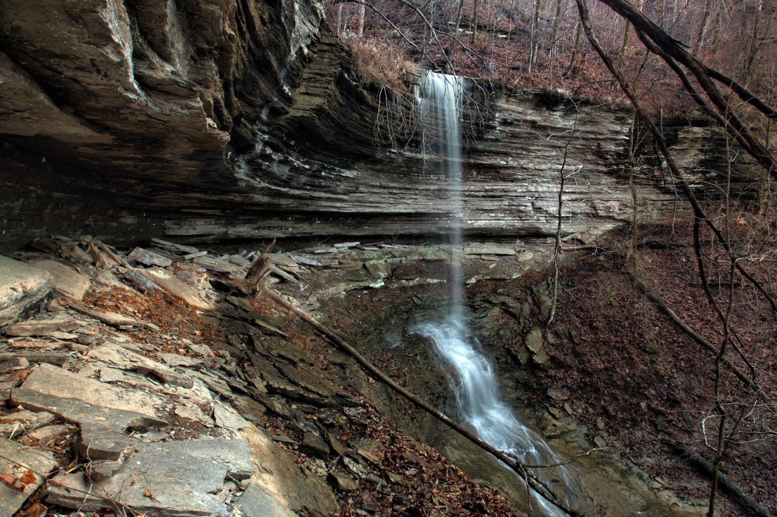 Ricks hiking blog pack hollow upper middle fork illinois bayou pack hollow falls during wetter times photo by dan frew 12152015 freerunsca Gallery