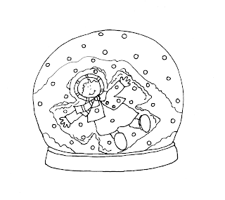 making snow angels coloring pages | Free Dearie Dolls Digi Stamps: Snow Angel Snow Globe