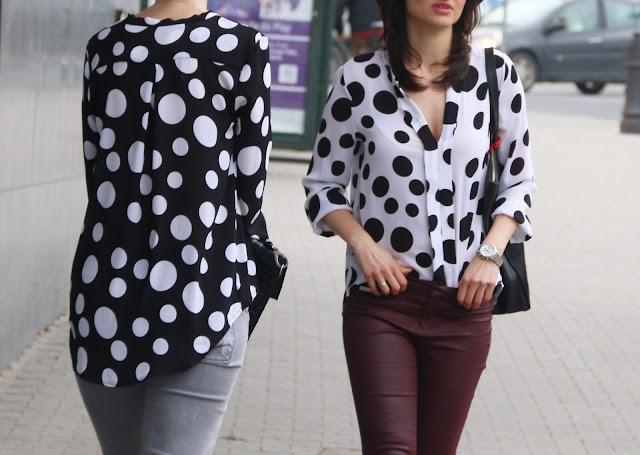 bluzka w groszki, groszki, grochy, styl, poznań streetstyle, street style, blog moda, bloggerki po 30-ce, styl po 30ce, stylistka, kapelusz, kapelusze, classy in the city,