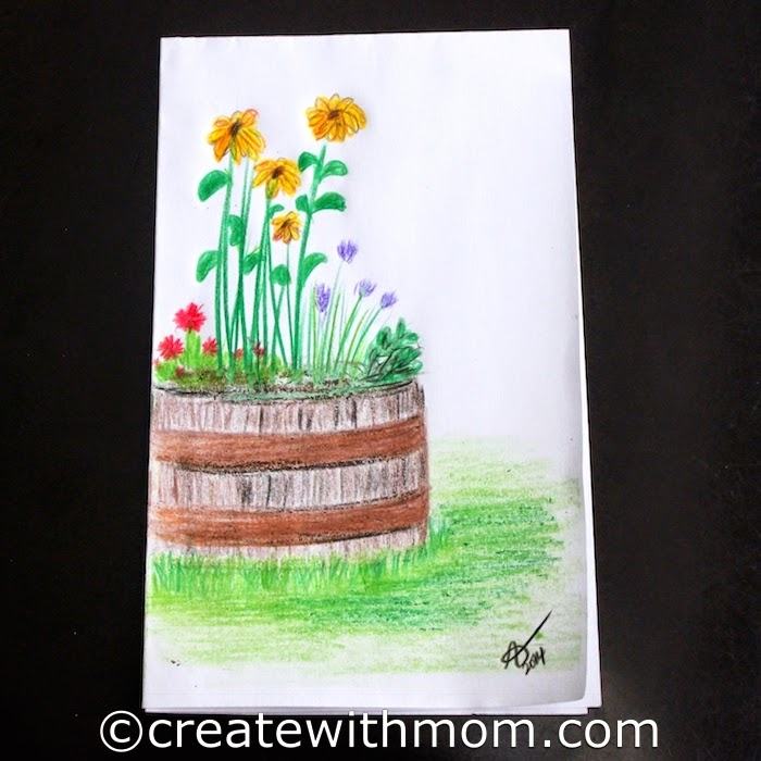 Create With Mom Colouring And Drawing Flowers With Crayola