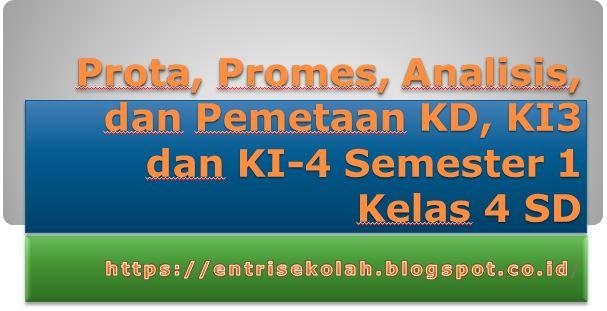 Prota, Promes, Analisis, dan Pemetaan KD Semester 1 Kelas 4 SD entrisekolah.blogspot.com
