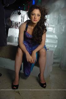 Sandeepa Dhar Sexy Sitting Pose