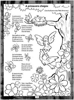 Blog Da Ana Carolina Pedagoga Surda Atividades E Colorir Primavera