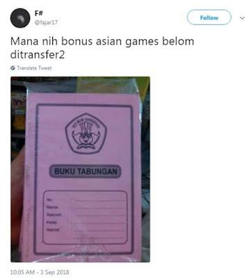 7 Meme Dapet Bonus Asian Games yang Bikin Auto Teriak 'Masuk Pak Eko'