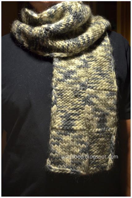 szalik na drutach dla mężczyzny