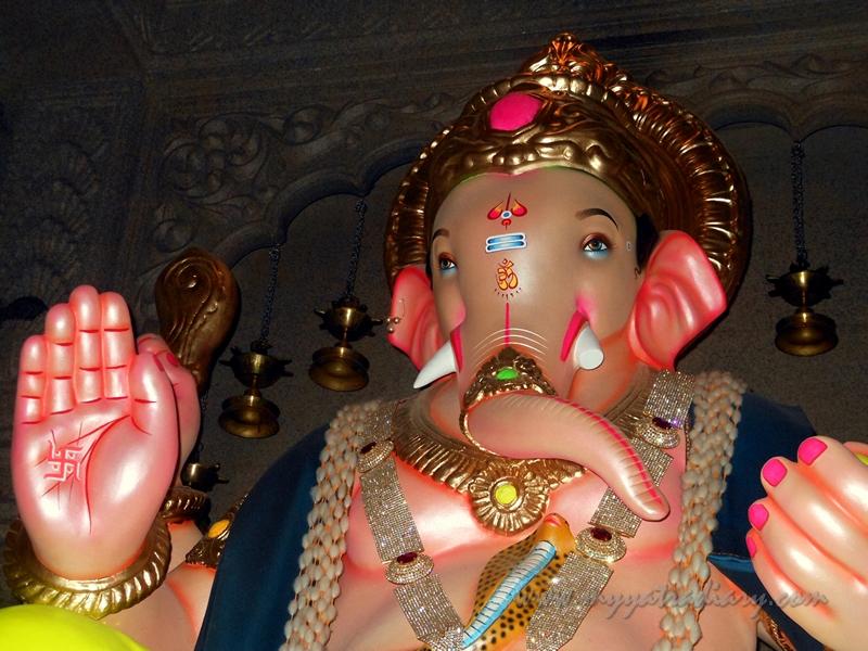 Big life size Ganesha in Uttarakhand temple theme, Ganesh Pandal Hopping Mumbai