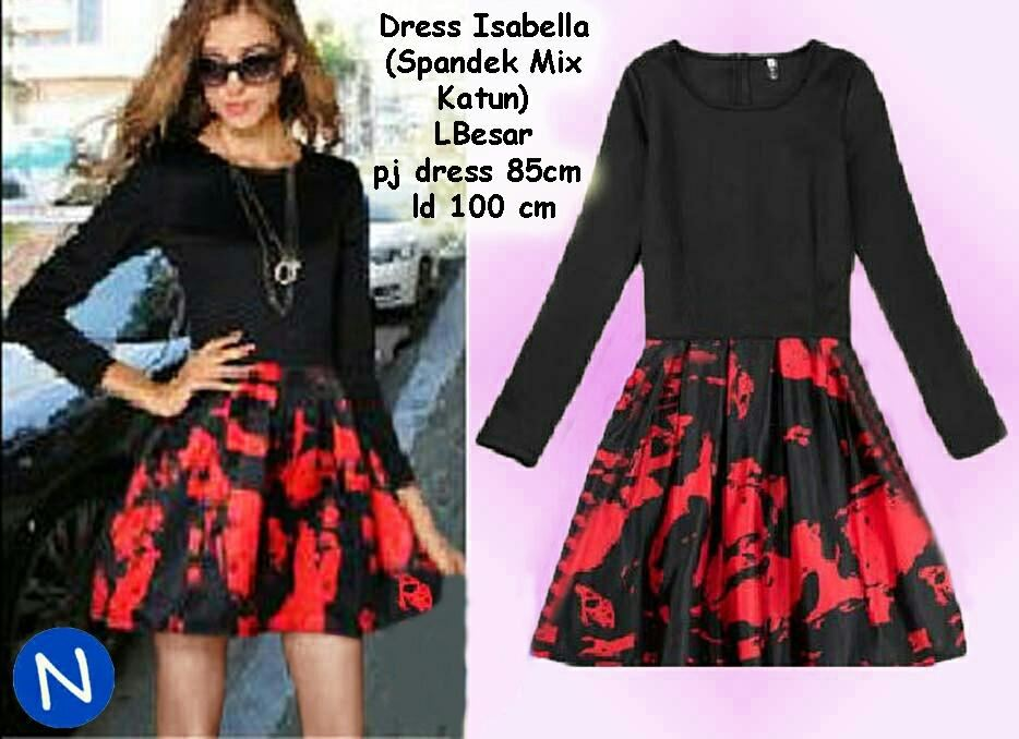 Jual Dress Dress Isabella - 12674