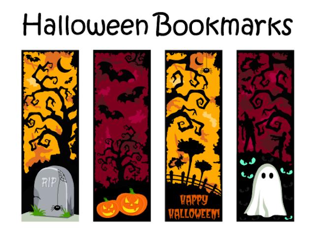 Bookmarks dành cho mùa Halloween