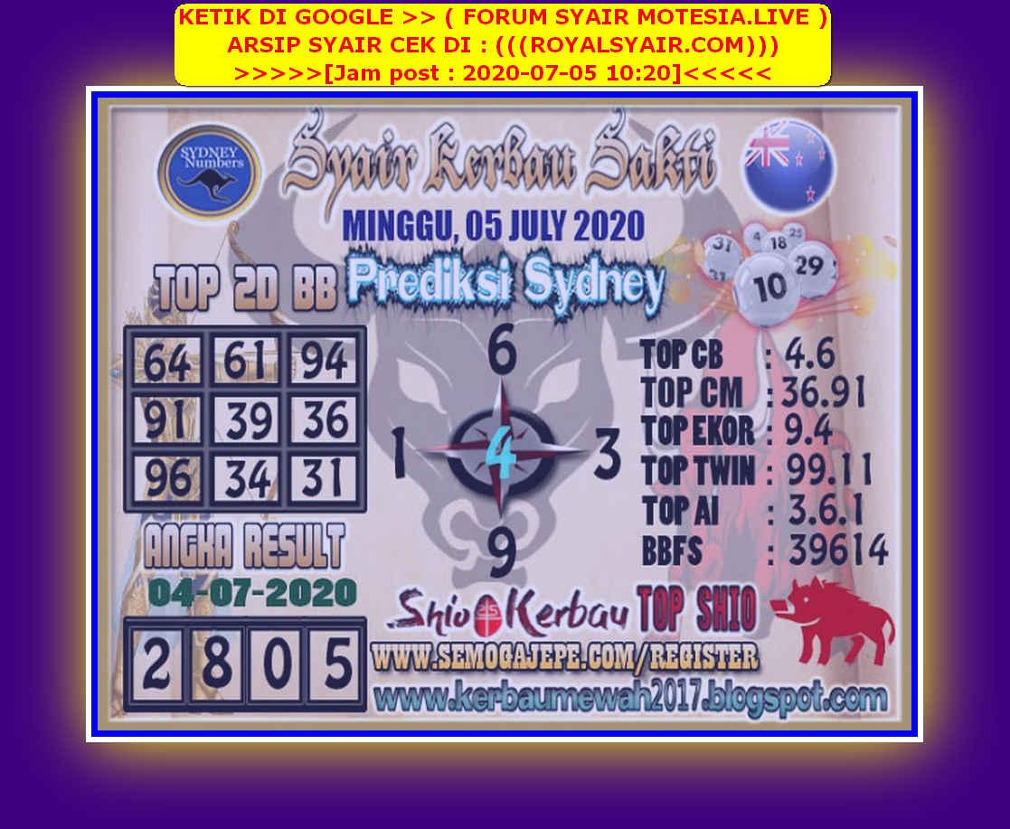Kode syair Sydney Minggu 5 Juli 2020 171